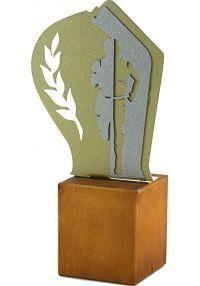 Trofeo de Cross en Metal/Madera Hombre-1
