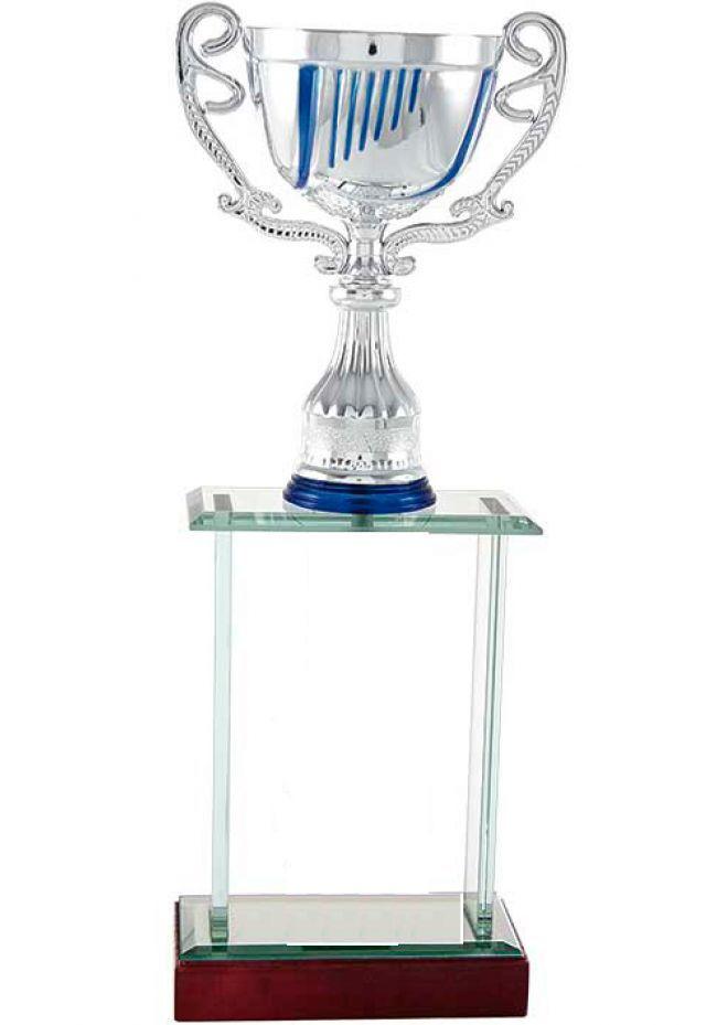 Trofeo columna cuerpo en cristal