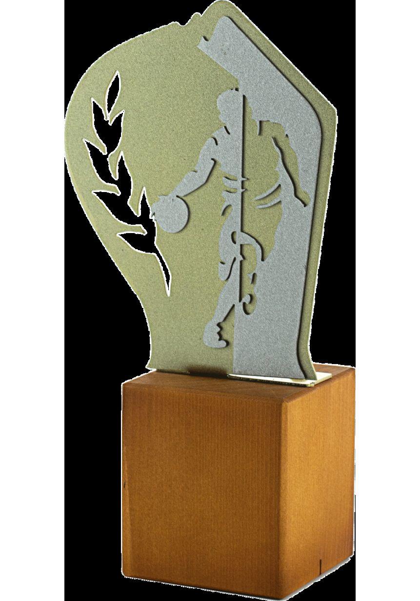 Trofeo de Baloncesto en Metal/Madera