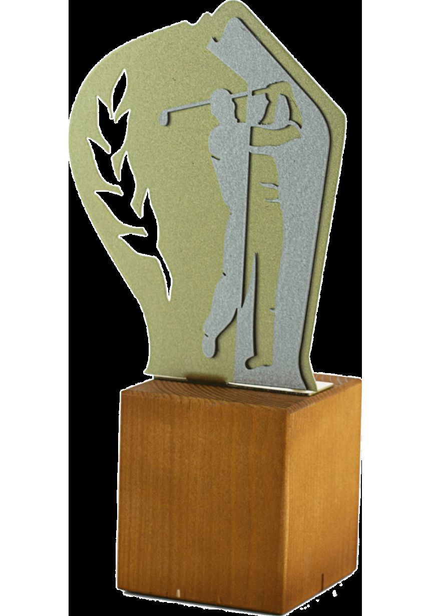 Trofeo de Golf en Metal / Madera