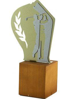 Trofeo de Golf en Metal / Madera  Thumb