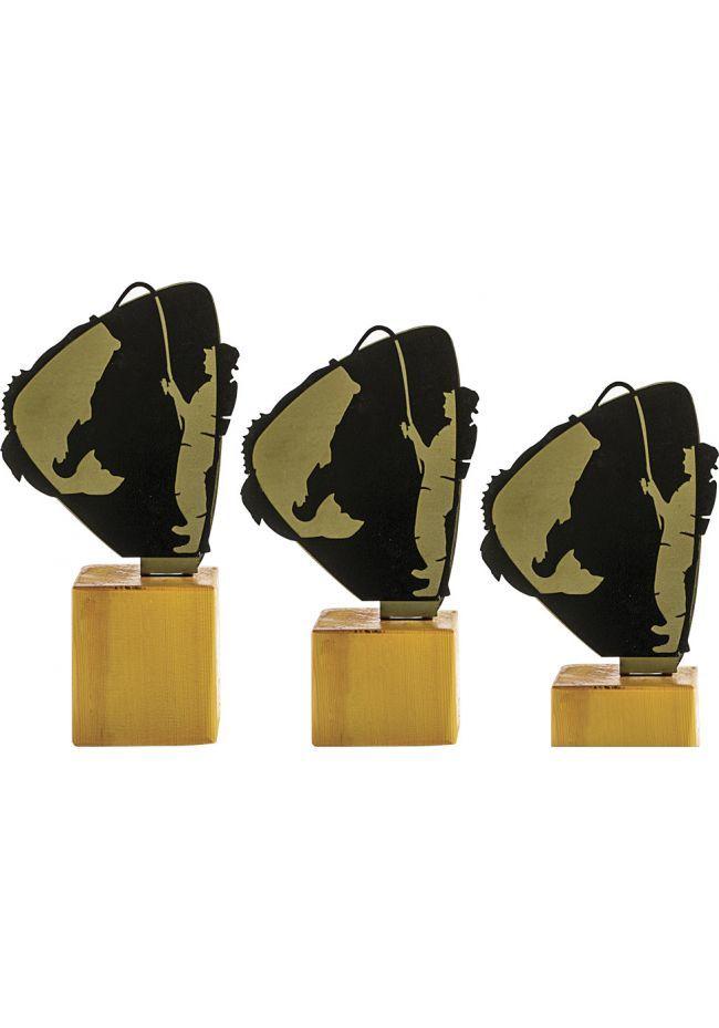Trofeo de Pesca en Metal/Madera