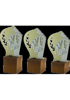 Trofeo de Baraja Española en Metal/Madera