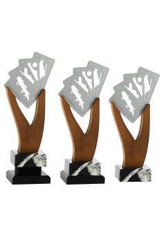 Trofeo de Baraja Española en Metal/Madera   Thumb