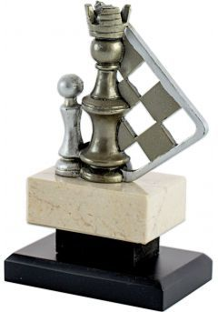 Trofeo Piezas Ajedrez Dorado/Plata-1