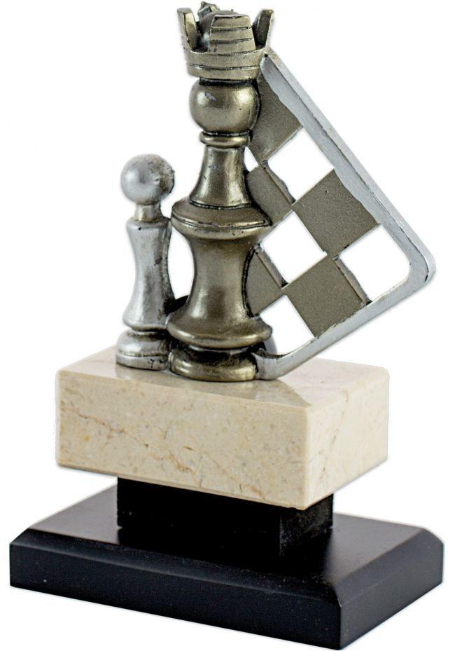 Trofeo Piezas Ajedrez Dorado/Plata