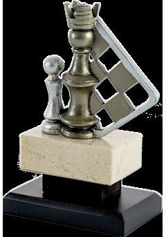 trofeo piezas ajedrez doradoplata 13