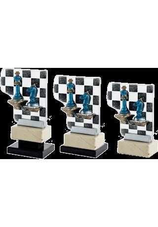 Trofeo Cristal Aplique Ajedrez