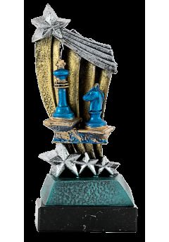 trofeo resina estrella ajedrez 13