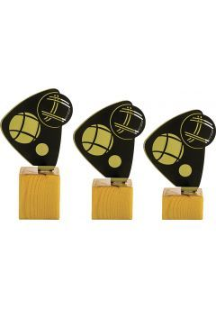 Trofeo Petanca en Metal/Madera   Thumb