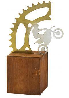 Trofeo Engranajes/Moto en Metal/Madera