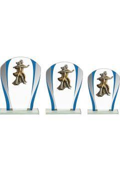 Trofeo Cristal Detalle Azul Baile Thumb