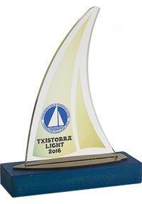 Trofeo Vela Metacrilato Personalizable