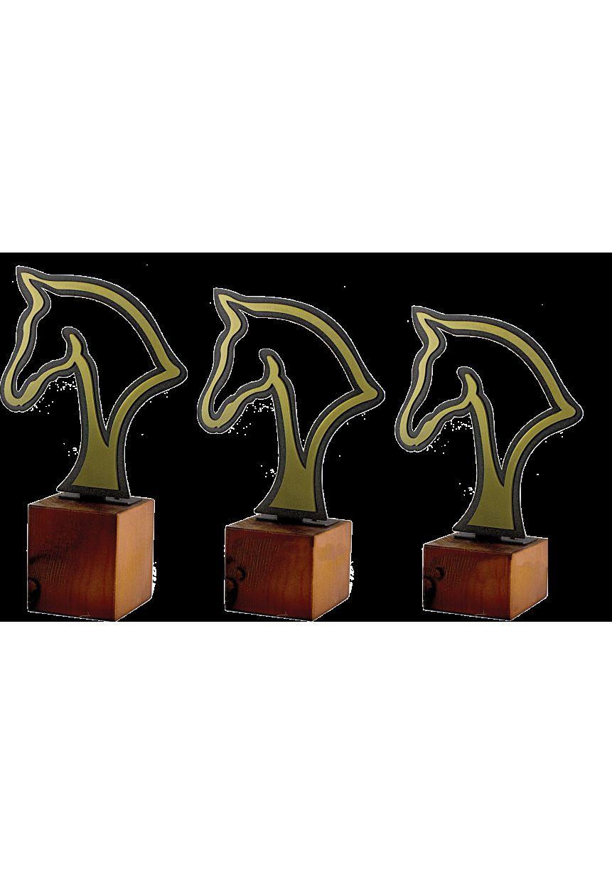 Trofeo Metal Silueta Cabeza Caballo