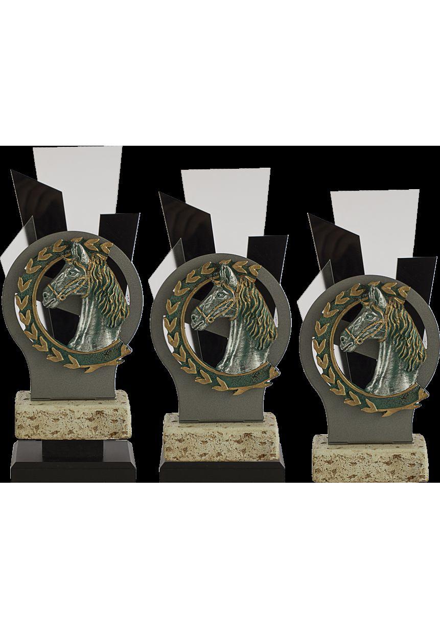Trofeo Metal y Metacrilato Aplique Caballo