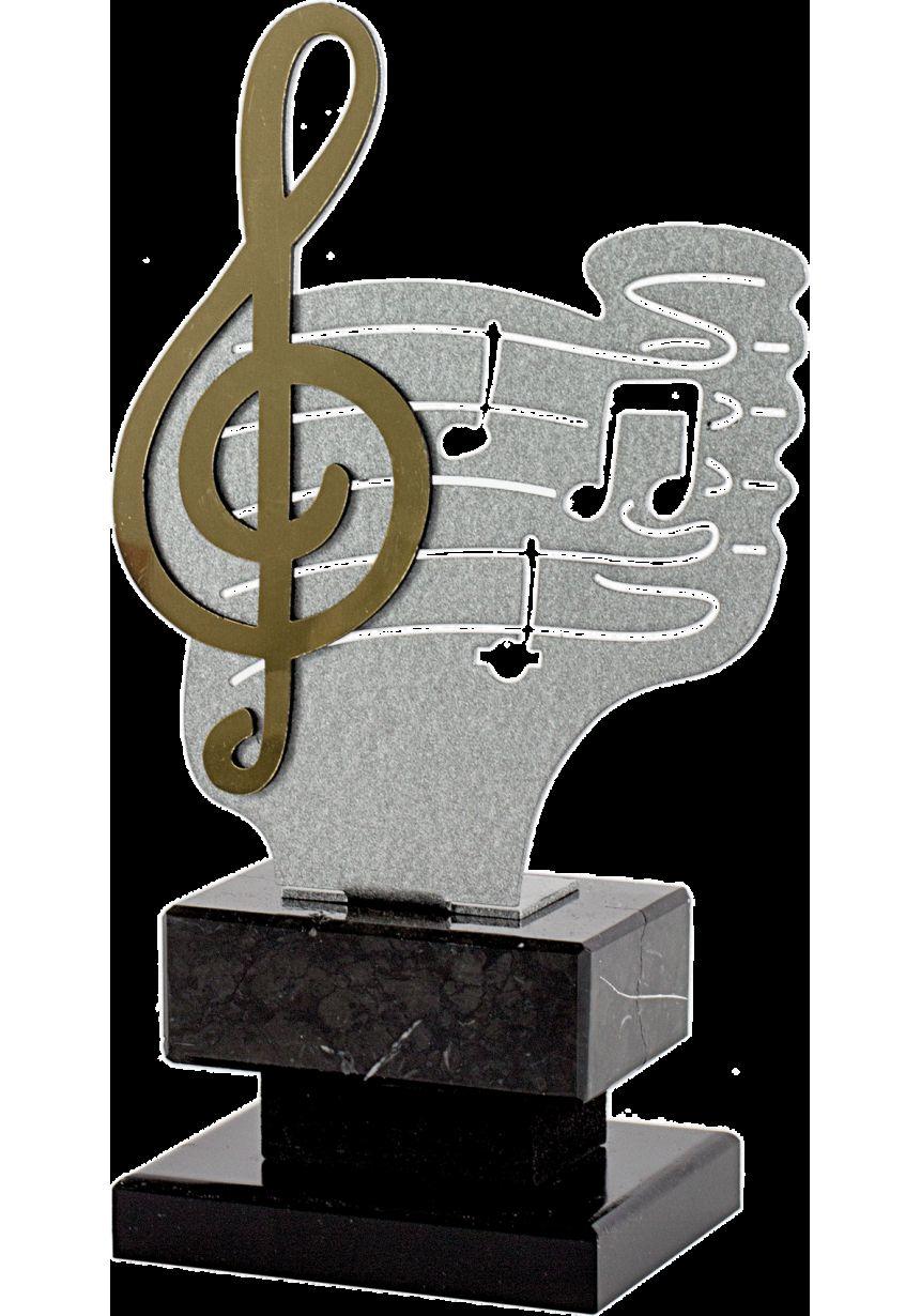 Trofeo Metal Clave Sol