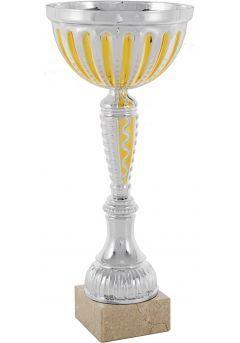 Trofeo cono bicolor dorado