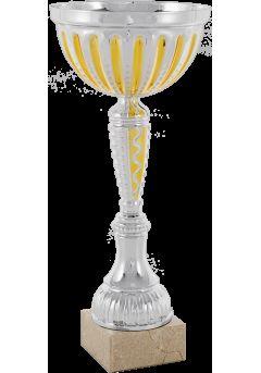 trofeo cono bicolor dorado 9