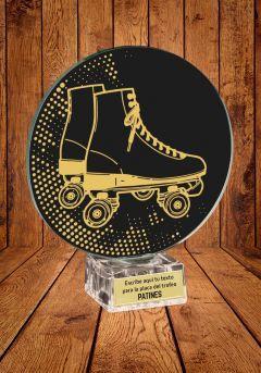 Trofeo de cristal para Patinaje