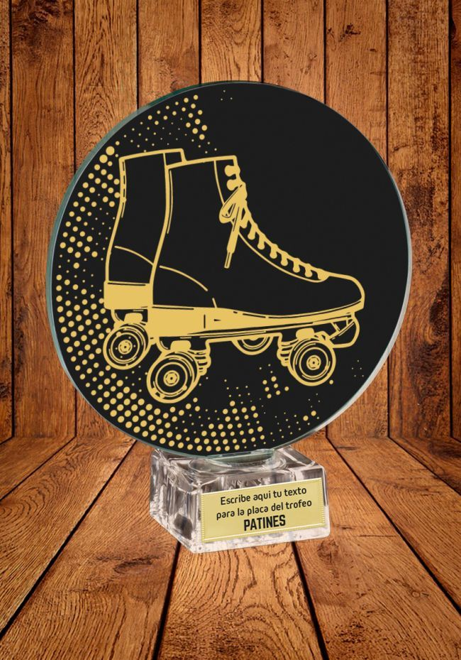 Cristal trophée pour le patinage