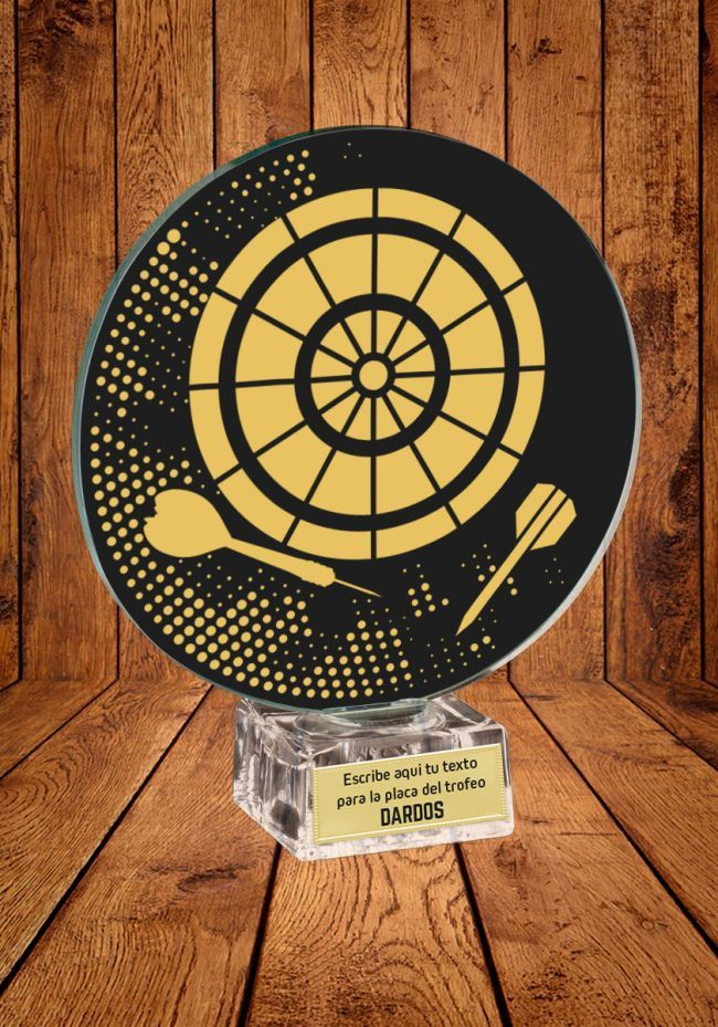 Trofeo de cristal para premios de Dardos