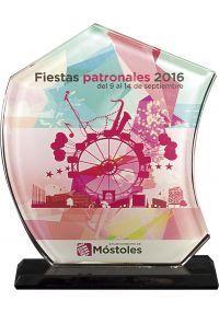 Trofeo de Cristal Vela en color -1