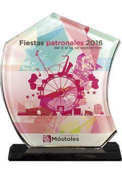 Trofeo de Cristal Vela en color  Thumb