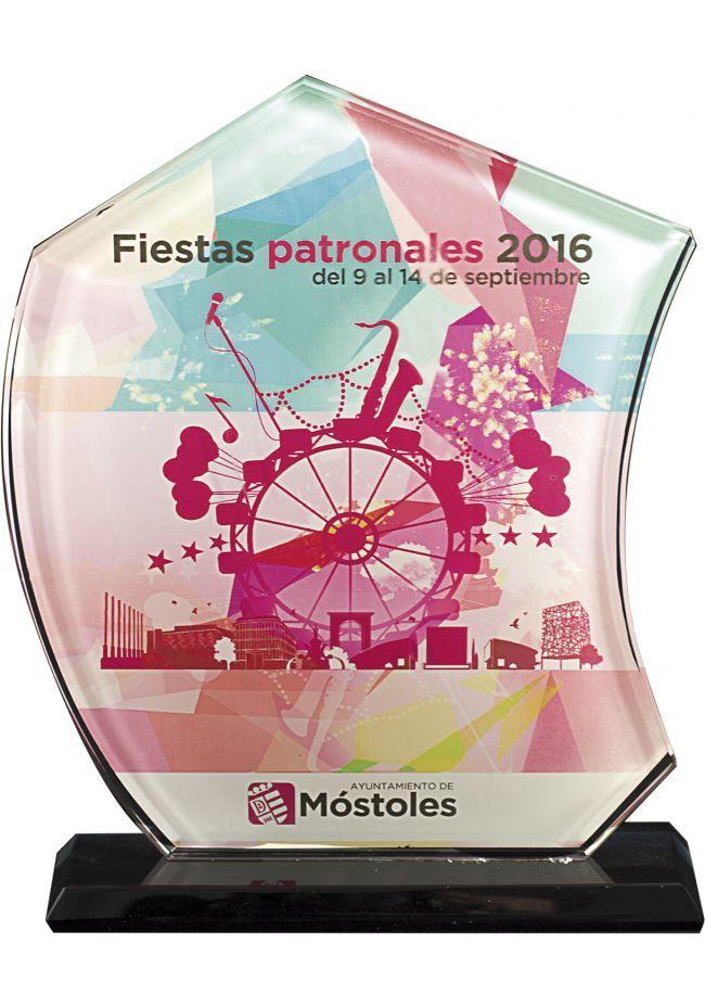 Trofeo de Cristal Vela en color