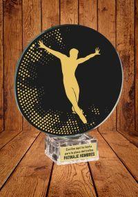 Trofeo de cristal para Patinaje sobre Hielo Masculino