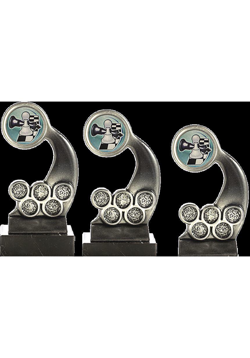 Trofeo Portadisco Resina Alegórico Plata