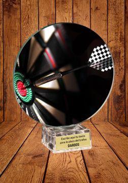 trofeo cristal dardos color