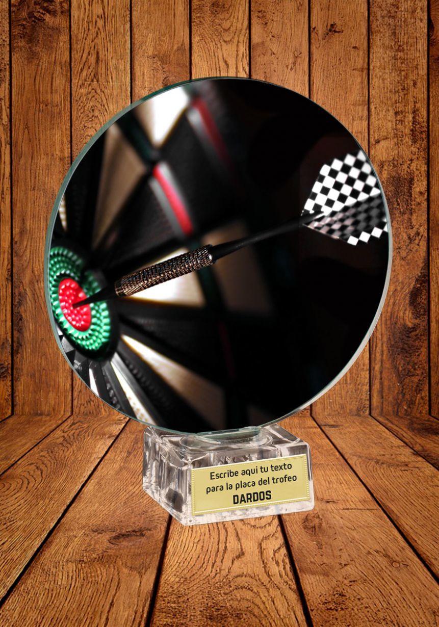 Trofeo de cristal para torneo de Dardos