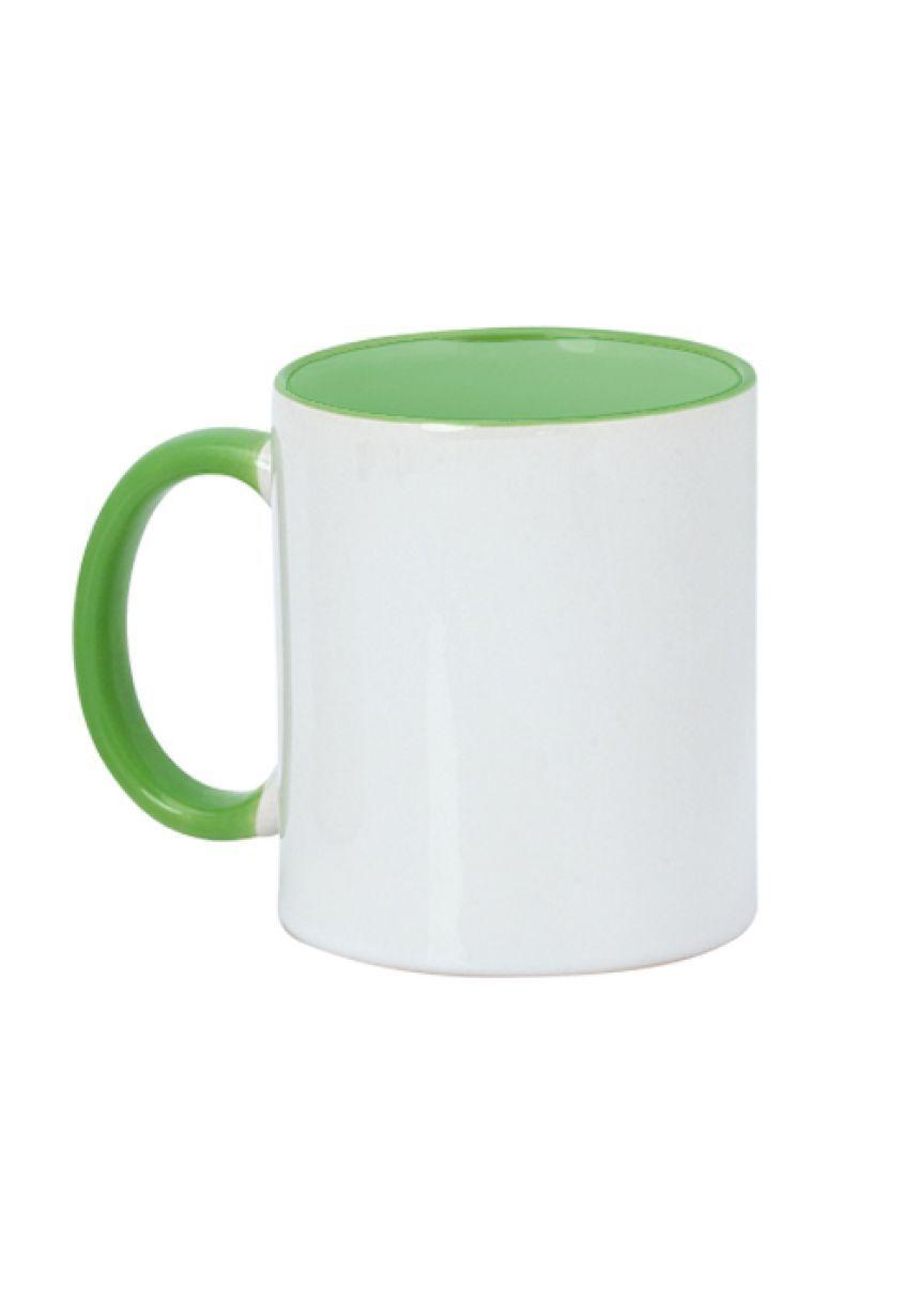 Taza blanca personalizada con colores
