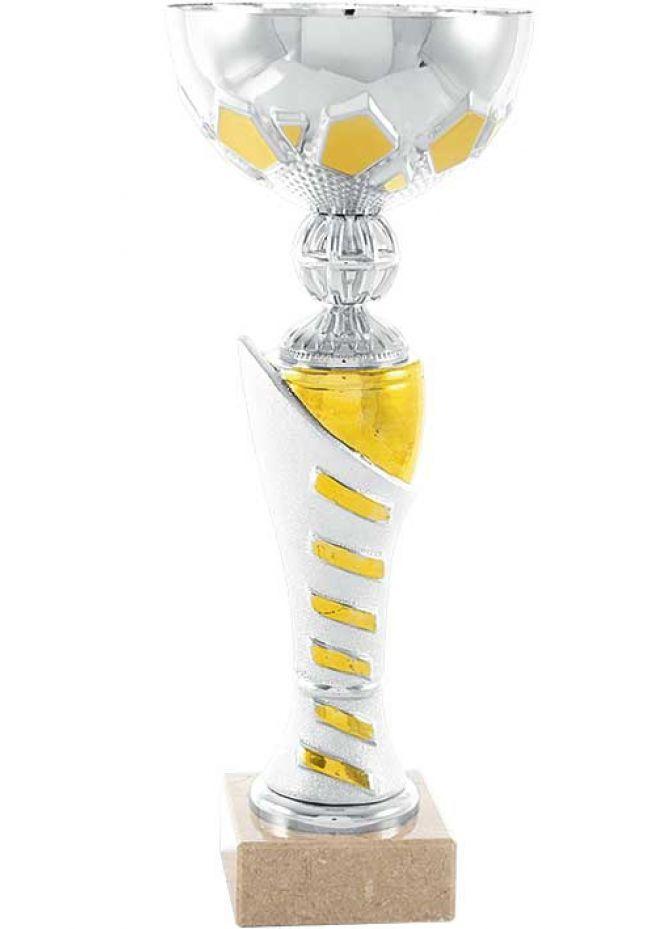 Trofeo copa trapecios oro y plata