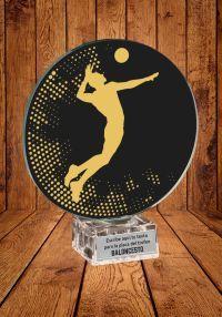 Trofeo de cristal para Voleibol masculino