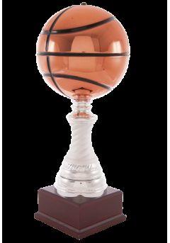 Trofeo balón de baloncesto en cobre columna