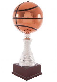 Trofeo balón de baloncesto en cobre columna Thumb