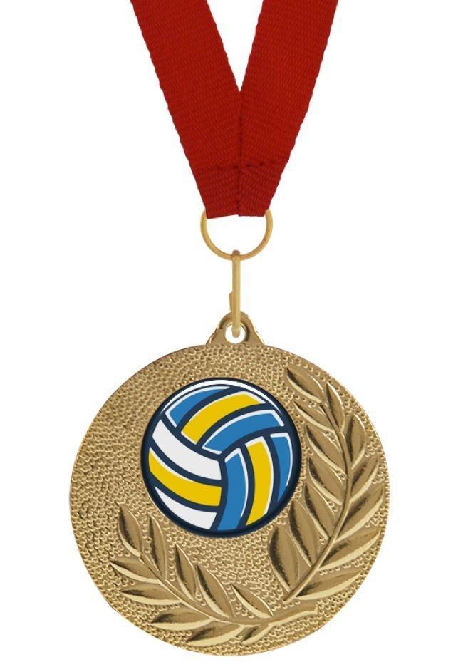 Medalla Completa con balón de Voleibol