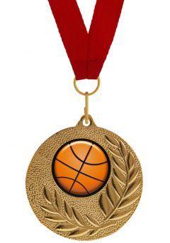 Medalla Completa con balón de Baloncesto