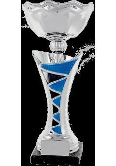 trofeo copa columna plata azul 9