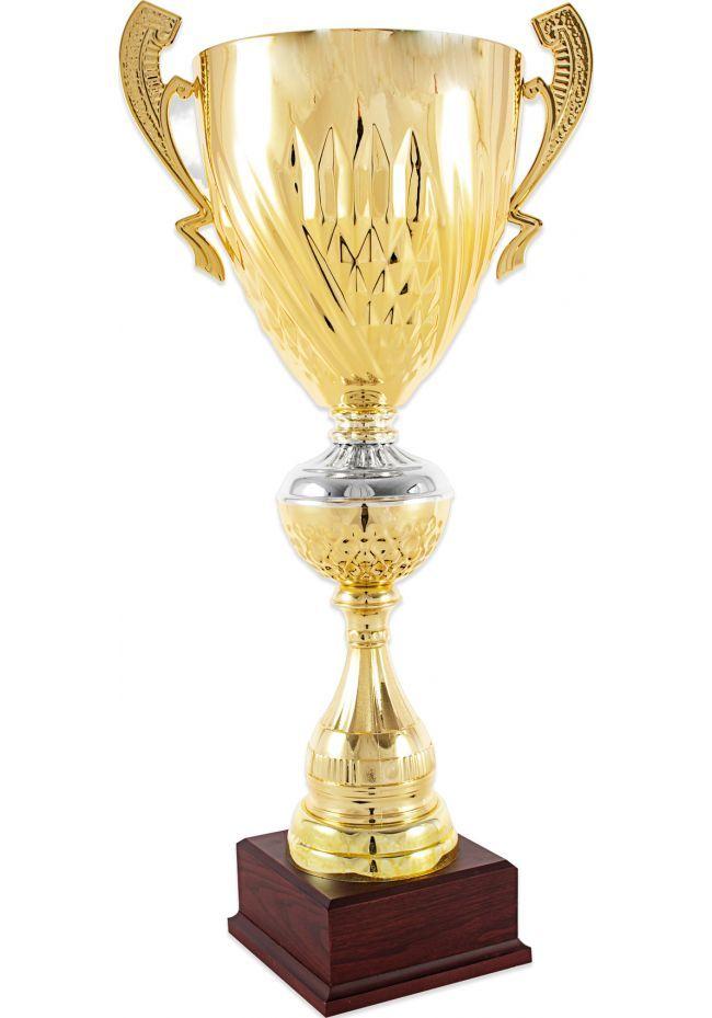 Trofeo copa cáliz bicolor asas