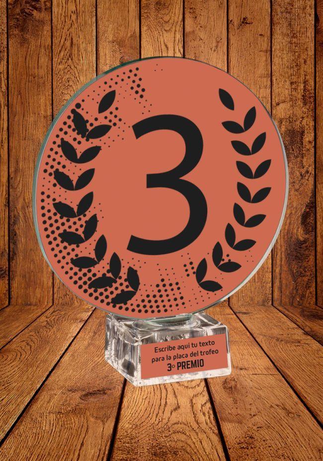 Trofeo Ganador con el Numero 3