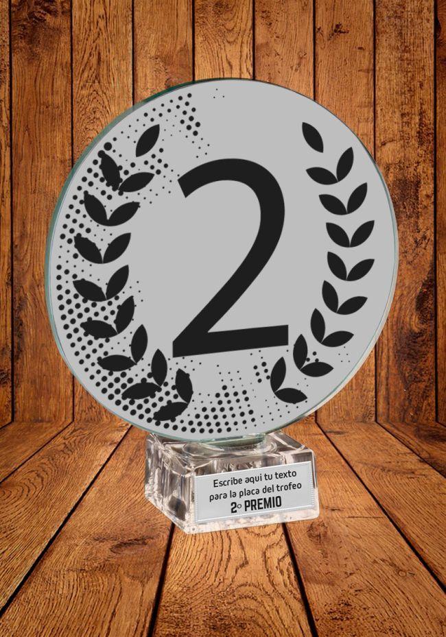 Trofeo Ganador con el Numero 2