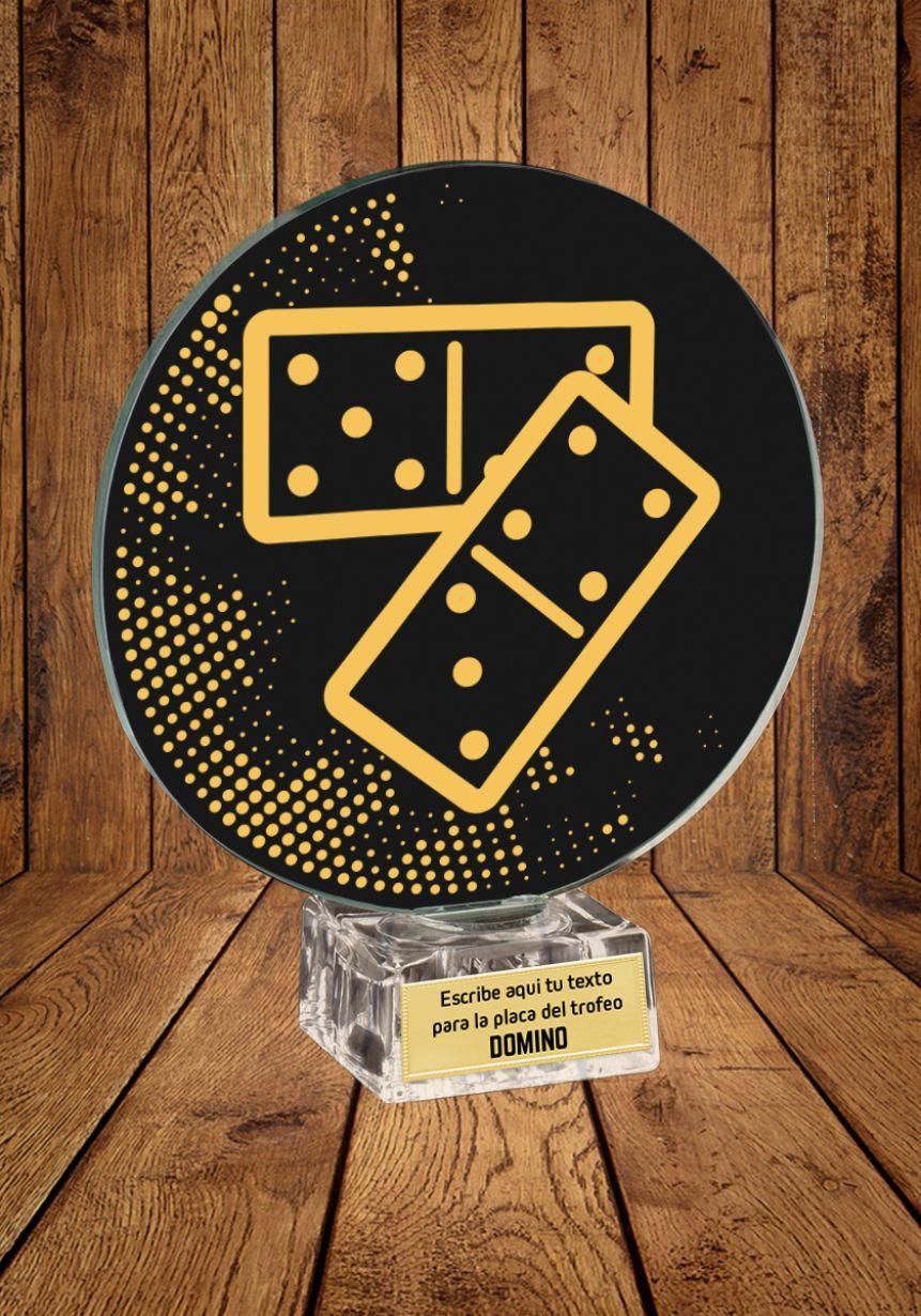 Trofeo de cristal Dominó