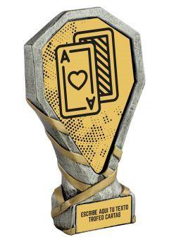 Trofeo de Cartas realizado en resina Thumb