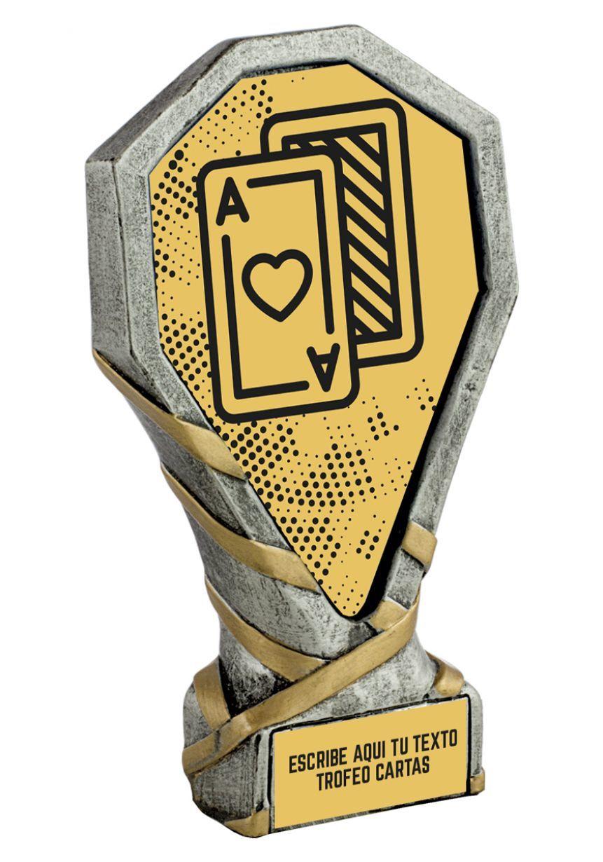 Trofeo de Cartas realizado en resina