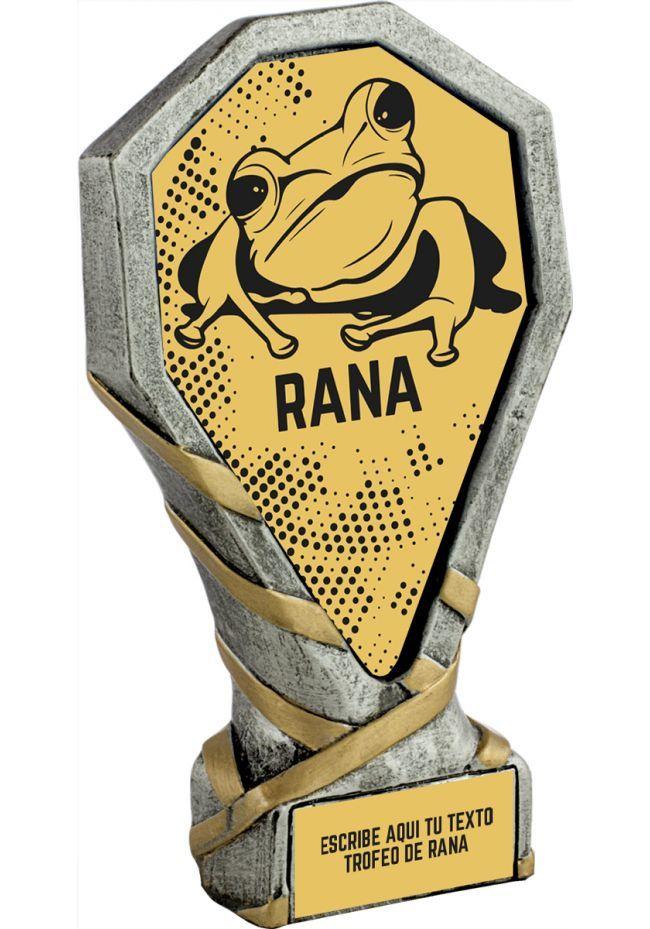 Trofeo de la Rana realizado en resina