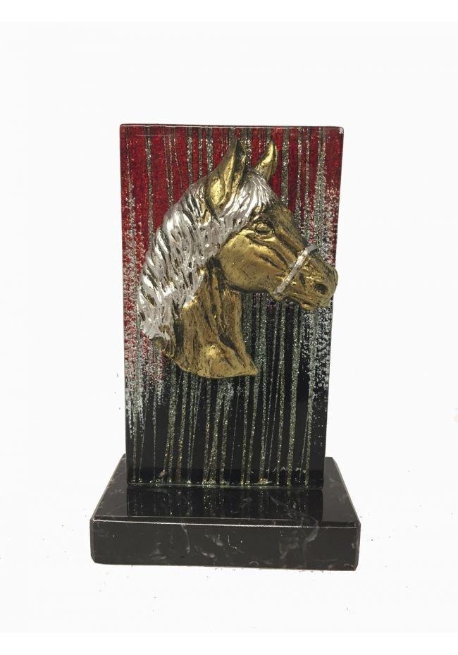 Trofeo Cristal Aplique Caballo
