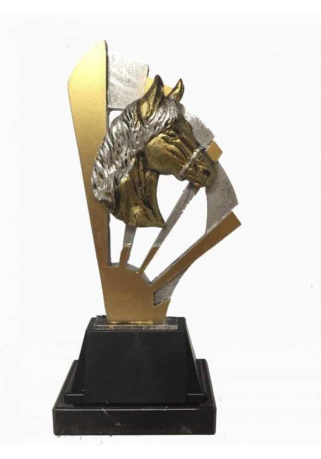 Trofeo Resina Abanico Aplique Caballo