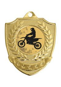 Badge-shaped medal for any sport